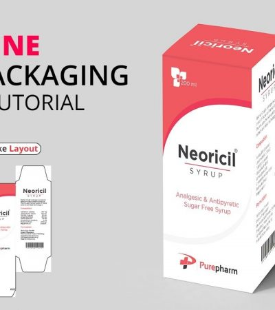 Medicine Box Packaging Illustrator Tutorial | How to Make Packaging Dieline/ Layout/ Die Cut #MH