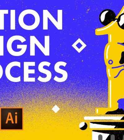 Motion Design Process in After Effects Illustrator & Photoshop – Tutorial