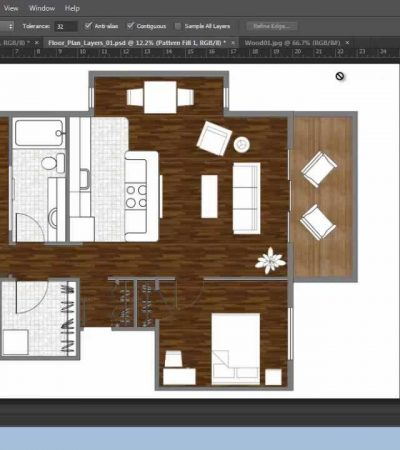 Adobe Photoshop CS6 – Rendering a Floor Plan – Part 3 – Floors and Pattern – Brooke Godfrey
