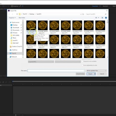 How to import an image sequence in Adobe After Effects CC 2017