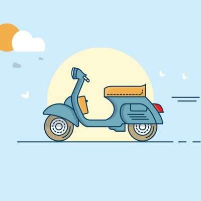 #1 Tutorial Illustrator | Cara Membuat Vektor Vespa Vintage di Adobe Illustrator