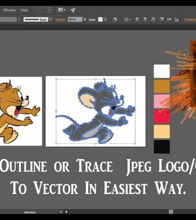 Adobe Illustrator CC Tutorial     How to image trace in illustrator in easiest way