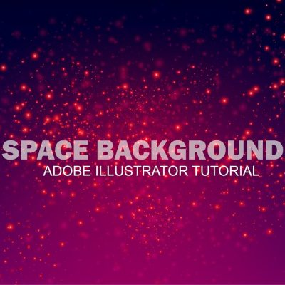 How to create Abstract Galaxy Background in Adobe Illustrator CC tutorial