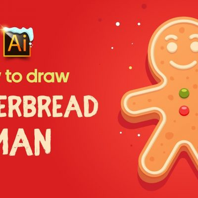 HOW TO DRAW A GINGERBREAD MAN | ADOBE ILLUSTRATOR TUTORIAL.