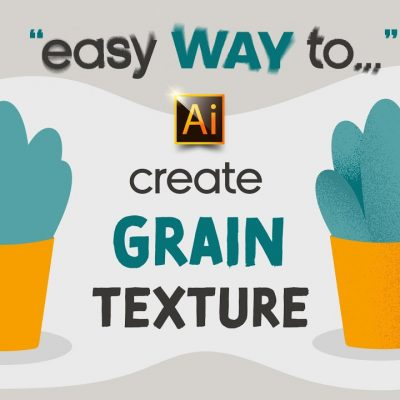 HOW TO CREATE A GRAIN (NOISE) TEXTURE   ADOBE ILLUSTRATOR TUTORIAL FOR BEGINNERS.